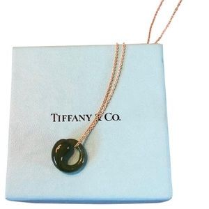 Tiffany & Co. Eternal Circle Pendant Green Jade